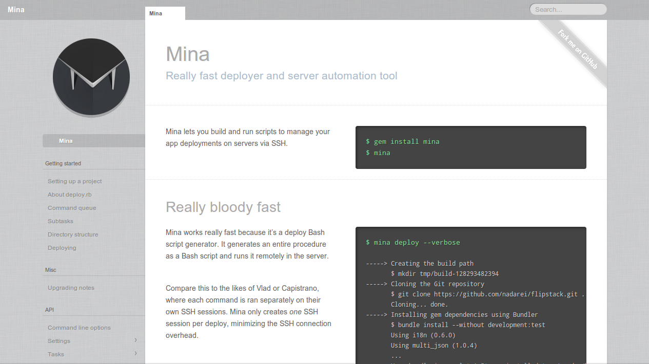 Automatic Application Deployment with Mina