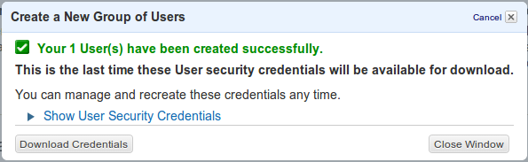 I&AM Download credentials
